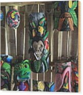 Maleku Balsa Tribal Masks Wood Print