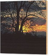 Malevolent Sunset Wood Print