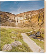 Malham Cove In Malhamdale Wood Print