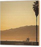 Malibu Beach Wood Print