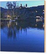 Malibu Lake Soft Focus Wood Print