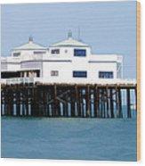 Malibu Pier On A California Blue Sky Day Wood Print