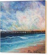 Malibu Pier Wood Print