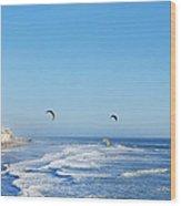 Malibu Surfing  Wood Print