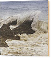 Malibu Waves Wood Print