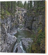 Maligne Canyon #2 Wood Print