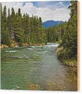 And A River Runs Through It Wood Print