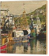 Mallaig Harbourside  Wood Print