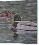 Mallards On Holloway Cove Wood Print