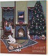 Mallory Christmas Wood Print