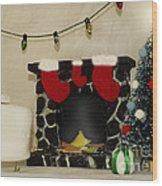 Mallow Christmas Wood Print