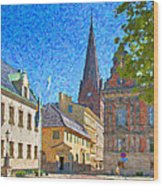 Malmo Stortorget Painting Wood Print