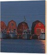 Malpeque Harbor After Sunset Wood Print