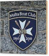 Malta Boat Club Wood Print
