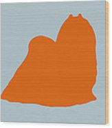 Maltese Orange Wood Print by Naxart Studio