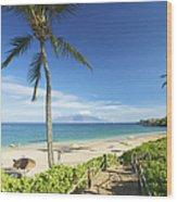 Maluaka Beach Park Wood Print