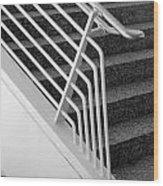 Mam Art Deco Stairs Wood Print