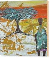 Mama Africa Wood Print