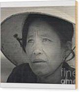 Mama San Pleiku Central Highlands Vietnam 1968 Wood Print