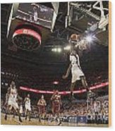 Mamadi Diane Dunk Against Boston College Wood Print