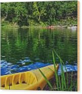 Mambu Canoe Wood Print