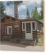 Mamma Cabin At The Holzwarth Historic Site Wood Print
