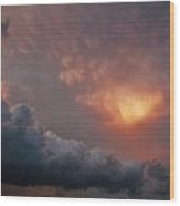 Mammatus At Sunset Wood Print