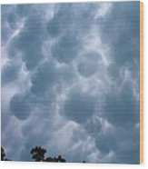 Mammatus Clouds Wood Print by Candice Trimble