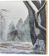 Mammoth In The Distance Wood Print