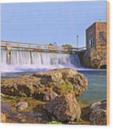 Mammoth Spring Dam And Hydroelectric Plant - Arkansas Wood Print