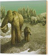 Mammoths Wood Print