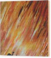 Man And Camel Wood Print