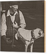 Man And White Dog In New Orleans Wood Print