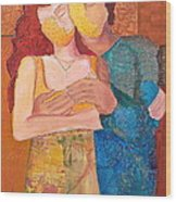 Man And Woman Wood Print by Debi Starr