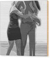 Man And Woman Wood Print