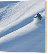 Man Big Mountain Skiing In The Chilkat Wood Print