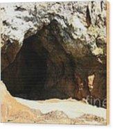 Shell Beach Man Cave Wood Print