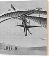 Man Gliding In 1883 Wood Print