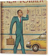Tuts Taxi Wood Print