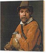 Man Holding A Jug Wood Print