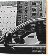 Man In Car - Scenes From A Big City Wood Print