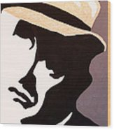 Man In Hat Wood Print