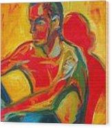 Man In Red Wood Print