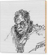 Man In The Corner Wood Print