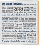 The Man In The Glass Poem Wood Print