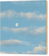Man In The Moon In The Clouds Wood Print
