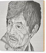 Man Looking Back Wood Print by Glenn Calloway
