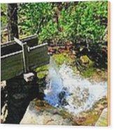 Man Made Waterfall V2 Wood Print