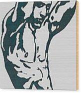 Man Nude Pop Stylised Etching Art Poster  Wood Print