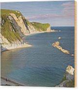 Man O' War Cove - Dorset Wood Print